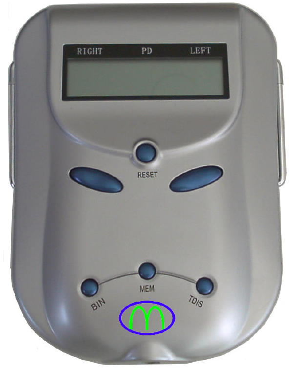 MCT-889 Silver Digital pupilometer